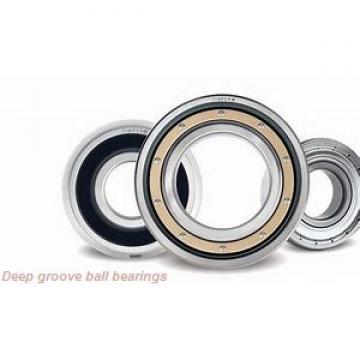6,35 mm x 9,525 mm x 3,175 mm  skf D/W R168 Deep groove ball bearings